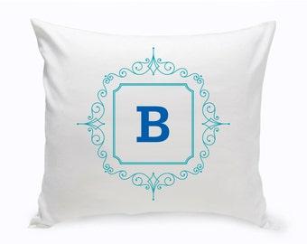 Initial Motif Throw Pillow - Personalized Throw Pillow - Initial Home Decor - Monogrammed Throw Pillow - GC1471