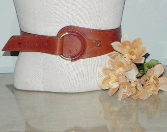 Vintage 80s Cole Haan Leather Belt Crafted in Italy
