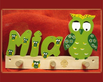OWL wardrobe with names for children