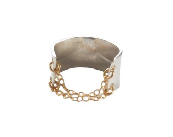 The Chained Up Ring in Sterling Silver