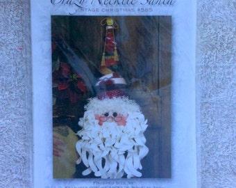 Crazy Necktie Santa Happy Hollow Designs Vintage Christmas 585 Santa Claus Christmas Decoration Destash Holiday Decoration Santa Face b39