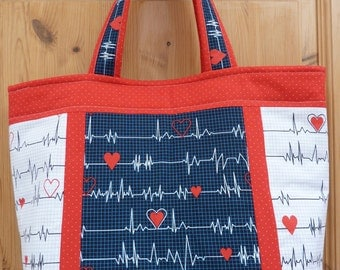 Medical themed large tote bag, Calling all nurse