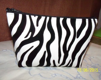 Vinyl and Flocked Cosmetic Bag, Makeup Bag, Electronic Bag, Gadget Bag, Felt bag