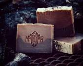 Gunpowder Soap - Exfoliating/Brambly; Handcrafted Soap, Natural Soap, Tea Tree Oil Soap, Gritty Soap, Man Soap, Vegan Soap, Canada Made.