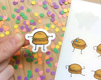 SALE - Burger Stickers!