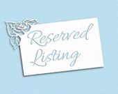 Reserved Listing - S&J