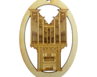 Pipe Organ Ornament - Pipe Organ Christmas Ornaments - Musician Gifts - Pipe Organ Ornaments - Organ Player Gift - Personalized Free