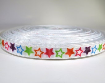 "5 yards of 3/8 inch ""stars"" grosgrain ribbon"