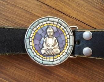 Mosaic Belt Buckle Buddha