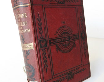 Doctrine Of Decent and Darwinism 1880s Oscar Schmidt Antique Rare Vintage Hardback books evolution anthropology Oldbook