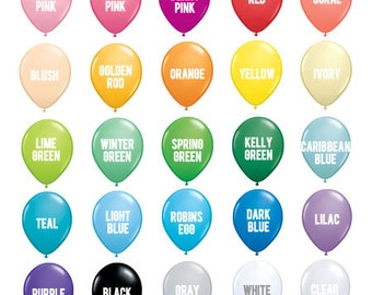 "11"" Solid Party Balloons - Petite Party Studio"