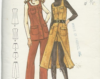 Butterick Pattern 6378   Misses / Petite    Jumper, Tunic and Pants, and Shorts    Size 12