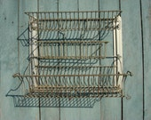 Vintage Kitchen Dish Draining Rack Old Rack for Drying Dishes, Soviet Vintage, 1970s