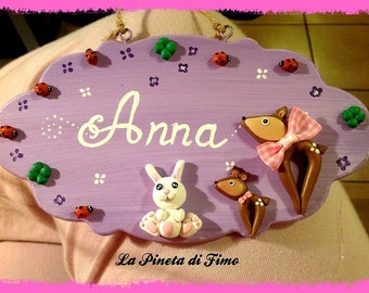 personalized wooden decorated plates - made to order