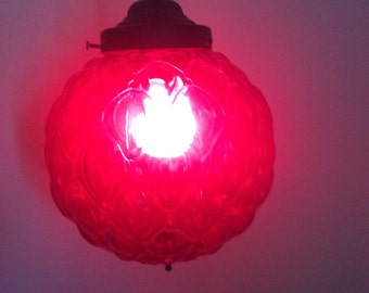 Vintage Orange - Swag - Hanging Lamp