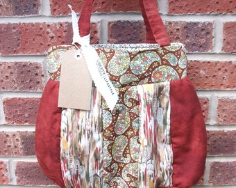 Liberty Print fully lined hand made patchwork sewing/tote bag vintage style print