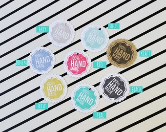 Hangtags for Products, Clothing Tags, Jewelry Tags, Paper Gift Tags, Small Tags, Round Tags, Shop Tags, Mini Round Tags for Crafting