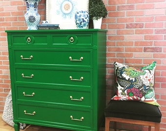 SOLD!!! Emerald Green Painted Chest