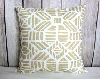 Throw Pillow. Metallic Pillow. Geometric Pillow. Gold Metallic Pillow. Metallic Pillow Cover. Pillow Cover