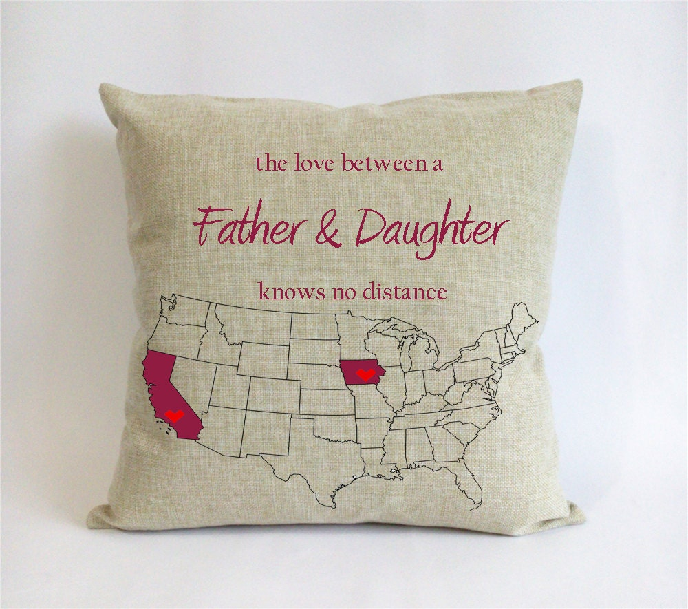 long distance father daughter pillowcase fathers day by