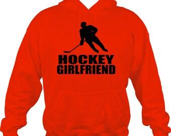 Hockey Girlfriend Sweatshirt/ Hockey Sweatshirt/ Hockey Girlfriend Hoodie Sweatshirt/ Hockey Gift/ Many Colors