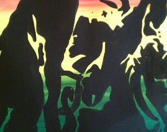 Stencil Art Canvas