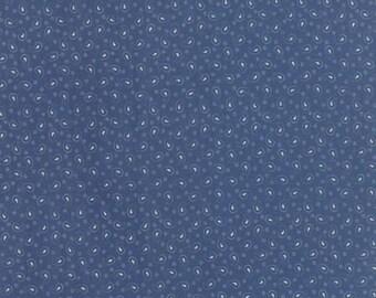 Polka Dots and Paisleys Mini Paisley Faded Blue - 1/2yd