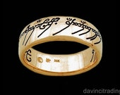 LOTR Lord of the Rings Gold The One Ring™ of Power Replica Sauron