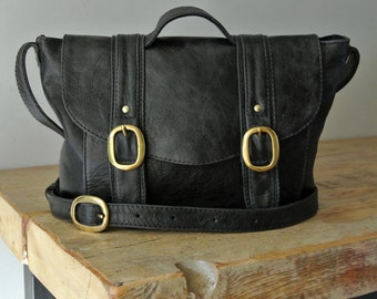 Handmade Black Leather 'Chloe' Handbag - Can be Personalized