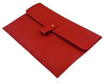 "11"" Leather Macbook Air Case - Red"