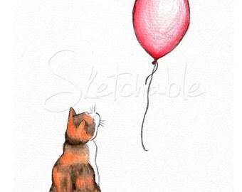 Jett and the Balloon (art print)