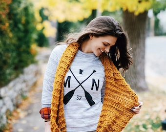 Butterscotch Infinity Scarf | Handmade, Warm, Soft and Cozy!