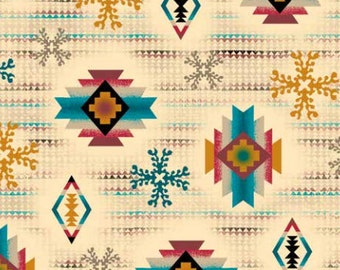 Laredo Fabric Ecru Southwest From Quilting Treasures By the Yard