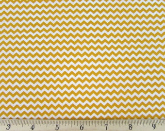 Mini Chevron Gold/Deep Yellow Fabric By the Yard