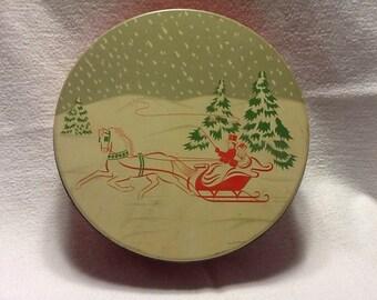 Christmas Metal Tin