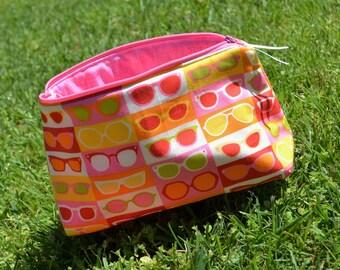 Pink Lady 9 inch Zipper Bag