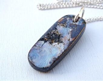 aquamarine necklace silver pendant