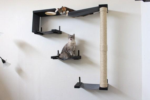 Sky track chat hamac tag res de chat gratuit exp dition - Parcours mural pour chat ...