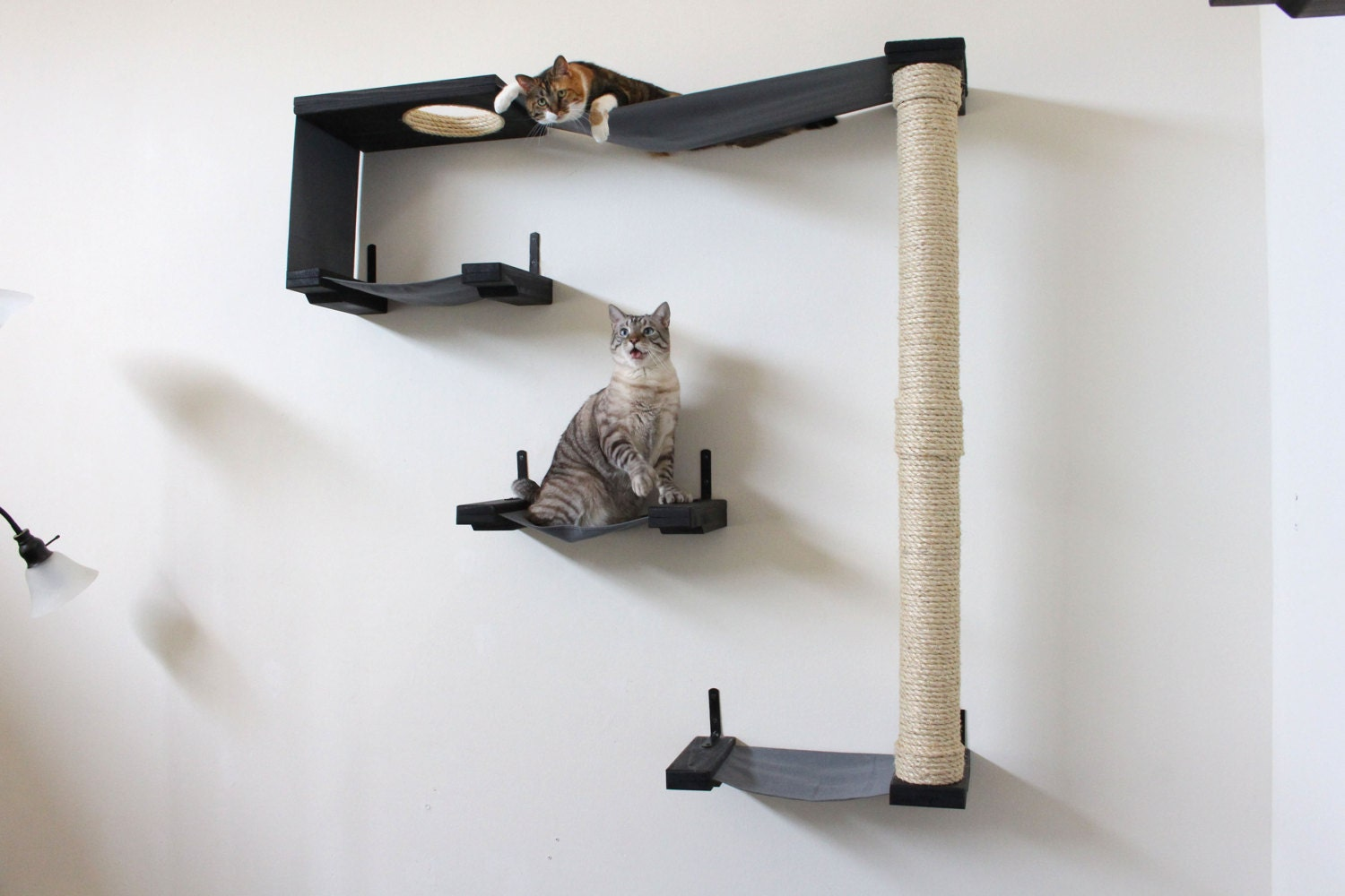 Fabric Cat Maze Cat Hammock Shelves Free US Shipping