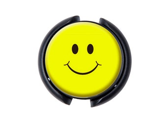 Happy Face Stethoscope ID tag, Name Tag, ID Tag-Yellow