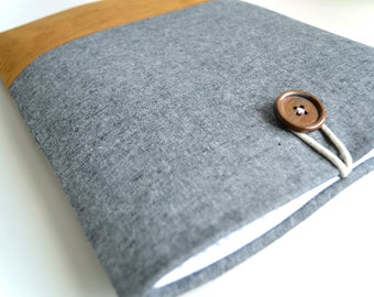 "Kindle Cover, Kindle Oasis, Kindle Paperwhite Case, 6"" Kindle Sleeve, Kindle Voyage, Kindle Fire 7"" Case - Charcoal Linen"
