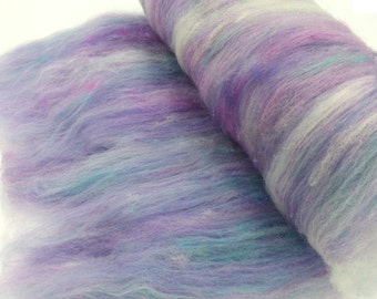 Hand carded, spinning, felting, fiber art batt. 2.5 oz