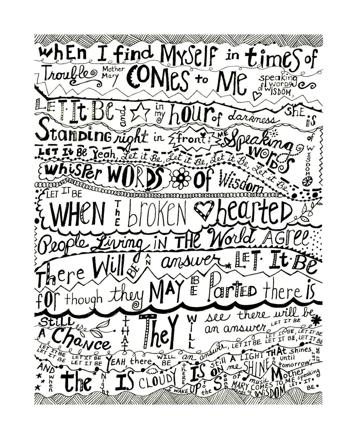 beatles lyrics let