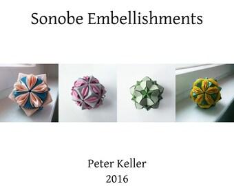Origami Instructions for embellished Sonobe Units, DIY