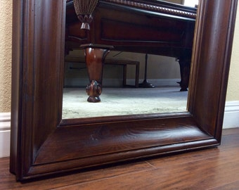 Mirror Thick Framed Mirror Rustic Mirror 30 By 34 Wood