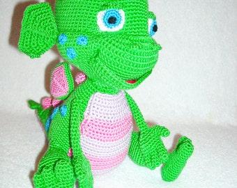 "amigurumi crochet ""Bo on the Go"" , Dragon Dezzy, gift, lil dragon, Dezzy dragon toy,amigurumi Dezzy, amigurumi lil dragon"