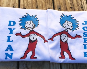 Thing 1 or Thing 2 inspired Shirt