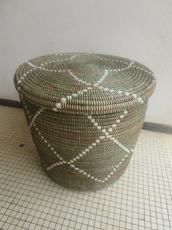 Modern Moroccan Style Basket Side Table Burlesque home