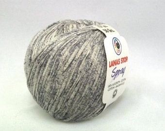 light weight cotton yarn, tape yarn, lanas stop spray, color 239
