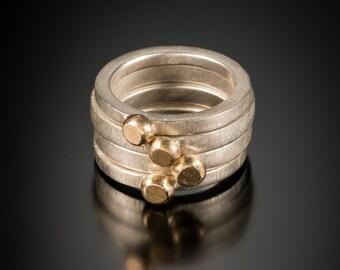Gold-Dot Stacking Ring